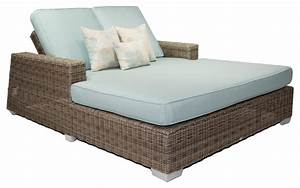 Palisades Outdoor Double Chaise Lounge With Sunbrella