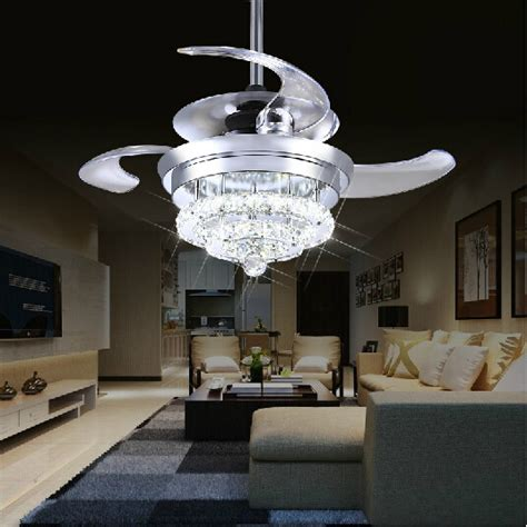 living room fans with lights crystal fan lights 100 240v invisible ceiling fans modern
