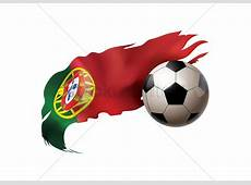 Soccer ball with portugal flag Vector Image 1817758
