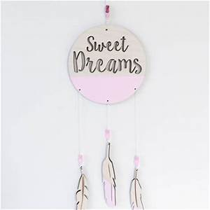 Sweet Dreams Dream Catcher With Feathers From Moon Snail For