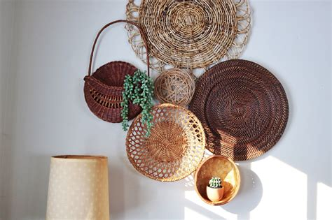 Check out our basket wall art selection for the very best in unique or custom, handmade pieces from our home décor shops. Basket Wall Decor, 6 Piece Set, Boho Wall Decor, Wall Basket Set (With images)   Basket wall ...