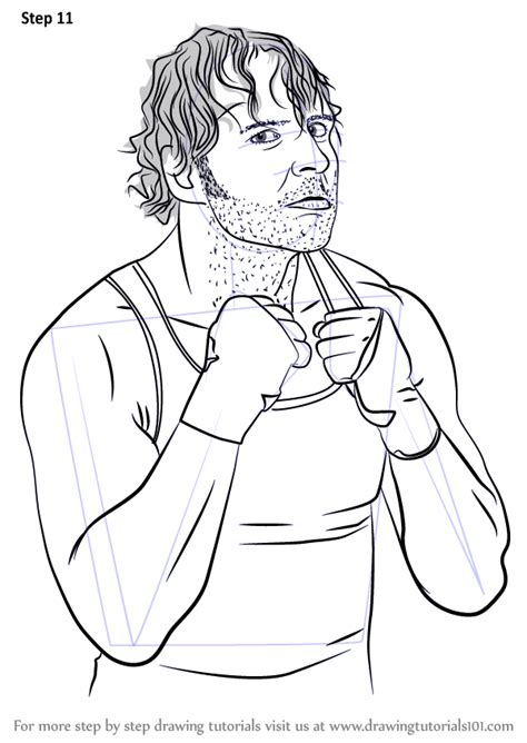learn   draw dean ambrose wrestlers step  step