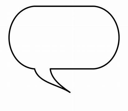 Bubble Speech Word Outline Clipart Transparent Clip