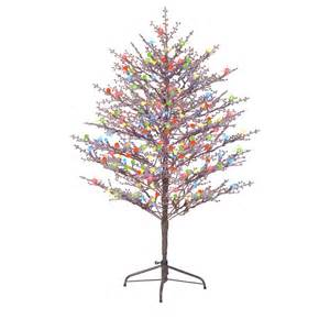 Pre Lit Multicolor Christmas Tree by Ge 5 Ft Pre Lit Winterberry Brown Artificial Christmas