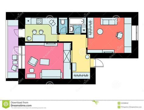 disposition des meubles dans une chambre le plan de la disposition de l 39 appartement à une chambre