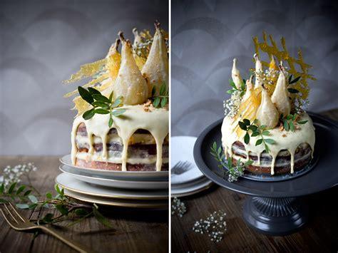 Birnen-amaretto-torte Mit Weißer Schokolade.