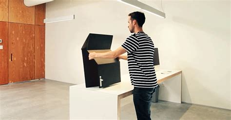 screw those 300 standing desks this cardboard one is 25