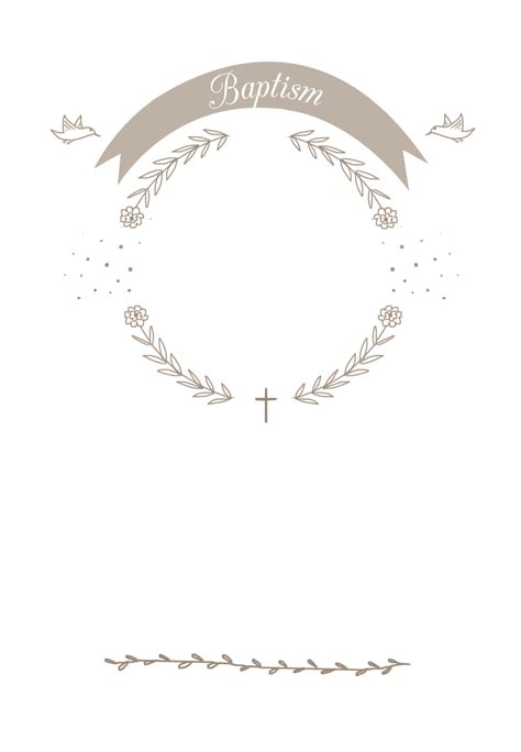 Ribbon Cameo Free Printable Baptism & Christening
