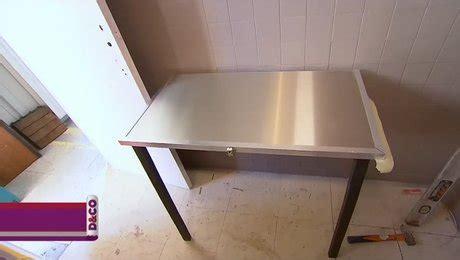 cr 233 er une table murale rabattable et pliante
