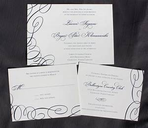 formal navy blue asymmetric swirl wedding invitations With navy evening wedding invitations