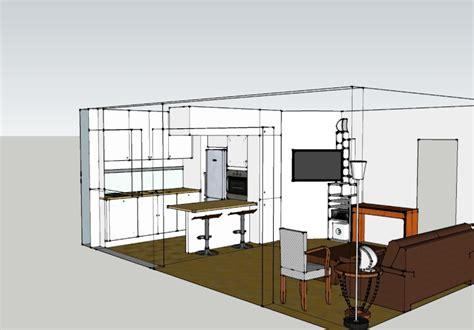 plan cuisine ouverte sur salon cuisine ouverte sur salon plus de salon sans perdre en