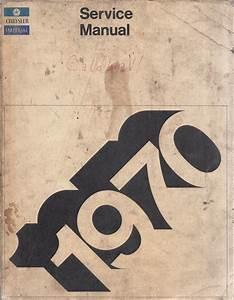 1970 Mopar Service Highlights Training Manual Reprint