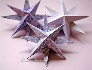 3d Sterne Aus Papier Basteln : weihnachtsbasteln mit papier 3 d origami sterne in lila ~ Lizthompson.info Haus und Dekorationen