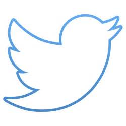 Twitter Bird Logo Outline