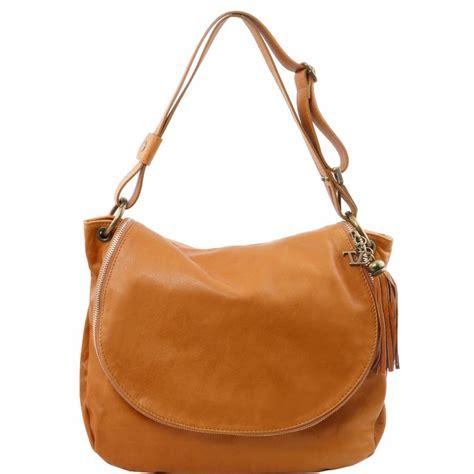 bureau couleur miel grand sac cuir bandoulière besace pour femme tuscany leather