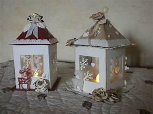 Lanterne De Noel : jolies lanternes pour no l annie scrap ~ Teatrodelosmanantiales.com Idées de Décoration