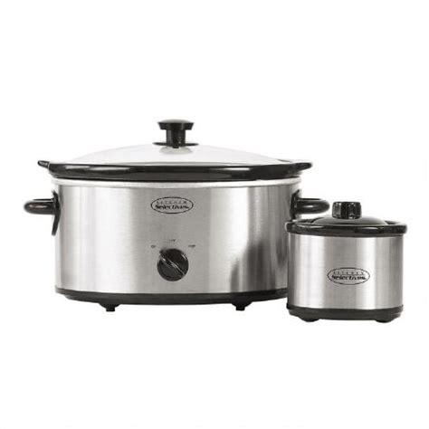 kitchen selectives crock pot kitchen selectives 5 quart cooker with 1 quart mini