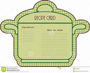 Recipe Card Stock Vector Illustration Of Recipe Original