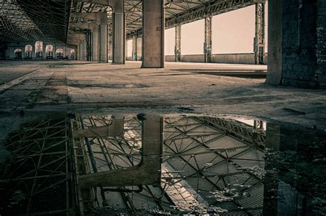 picture abandoned architecture water reflection