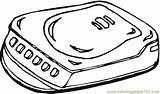 Cd Coloring Player Appliances Technology Coloringpages101 Getcolorings Getdrawings sketch template