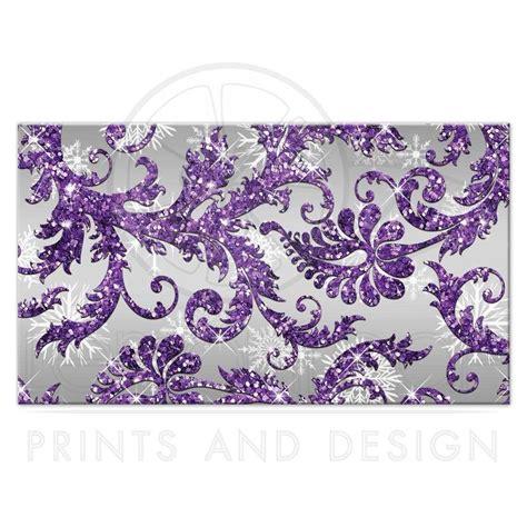 Winter Wonderland Wedding Reception Card  Purple, Silver