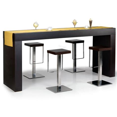 table haute quot hour quot wengé achat vente table à