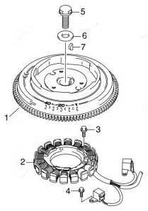 Johnson 2007 25 - J25rl4sur  Flywheel  U0026 Stator
