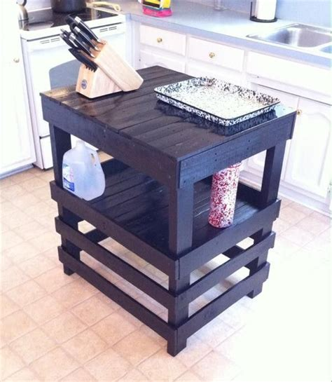 kitchen island from pallets recycled pallet kitchen island table ideas ilha de 5071