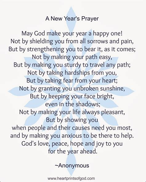 best prayers for welcoming a new year heartprints of god december 2013