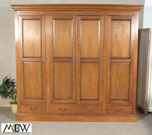 Large Wardrobe Cabinet by Large Solid Mahogany Tv Media Entertainment 4 Door Armoire