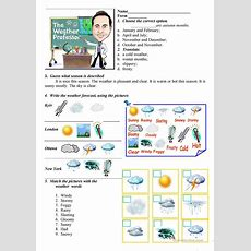 Weather Worksheet  Free Esl Printable Worksheets Made By