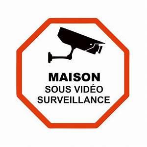 Video Surveillance Maison : sticker maison sous video surveillance etiquette autocollant ~ Premium-room.com Idées de Décoration
