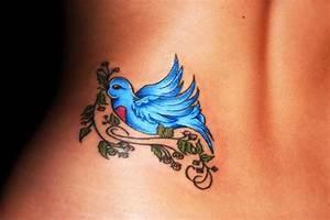 Blue Bird Lower Back Tattoo Designs | Tattoo Love