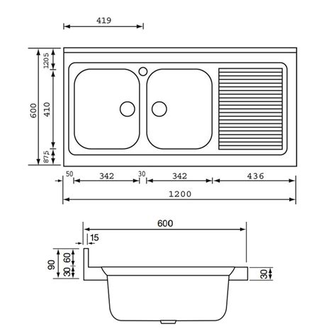 plan de travail cuisine grande largeur simple profondeur standard plan de travail cuisine vier