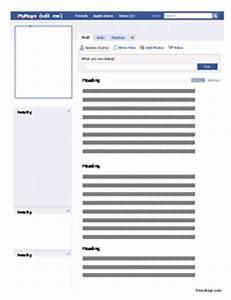 fake facebook post template - faux facebook profile worksheet freeology