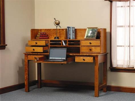 top of desk storage rivertowne amish writing desk with storage hutch top
