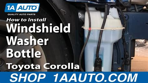 install replace windshield washer bottle toyota