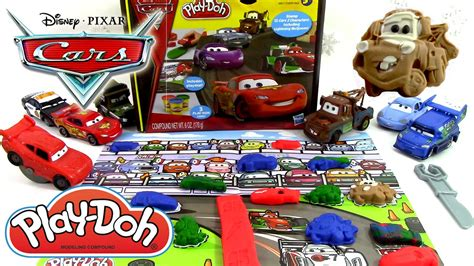 p 226 te 224 modeler disney cars 2 play doh flash mcqueen martin luigi guido grand prix