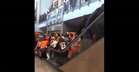 Fans Thrown From Malfunctioning Escalator After Flyers Game