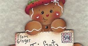ginger toll paint the decorative painting store letter With gingerbread letter ornaments