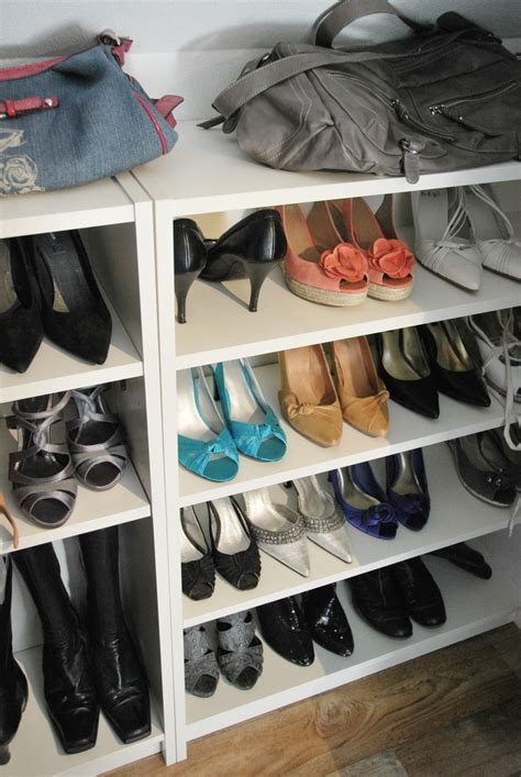 Shoe Storage Bookcase by Billy Bookcases From Ikea Used As Shoe Shelves My