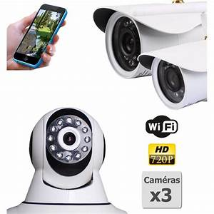 Camera Surveillance Exterieur Wifi : pack de camera de surveillance hd ip wifi interieur et ~ Melissatoandfro.com Idées de Décoration