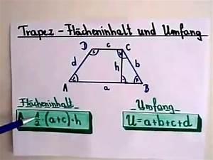 Flächeninhalt Und Umfang Berechnen : trapez berechnen fl cheninhalt und umfang youtube ~ Themetempest.com Abrechnung