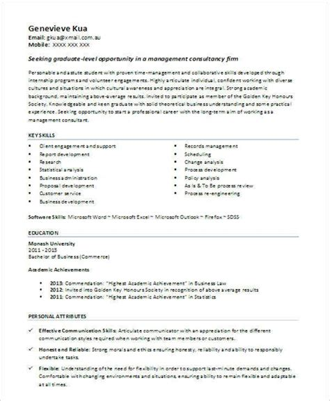 cv template business graduate graduate cv