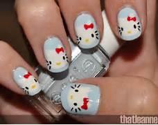 cute Hello Kitty nail ...