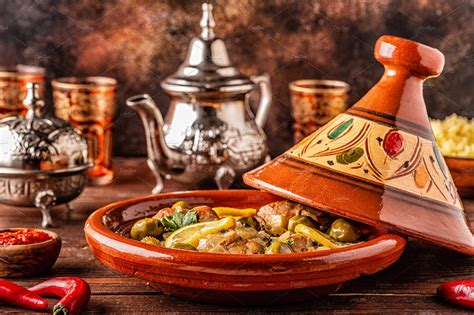 traditional moroccan tagine high quality food images