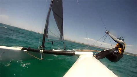 Catamaran Sailing Adelaide by A Class Catamaran Tacking And Upwind Race Youtube