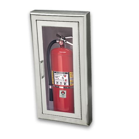 Jl Industries Semi Recessed Extinguisher Cabinet by Jl Cosmopolitan Stainless Steel 1037f10 Fx2