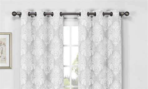 Wexley Home Foam Backed Blackout Curtains Reviews The Man Behind Curtain Lost Grey Velvet Damask Curtains How To Fix A Loose Shower Rod Ceiling Mount Canada Caddy Hang From Contemporary Fabric Australia Modern Bathroom With Sew Tape