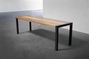 Table En Metal : la table en m tal et bois artmeta ~ Teatrodelosmanantiales.com Idées de Décoration